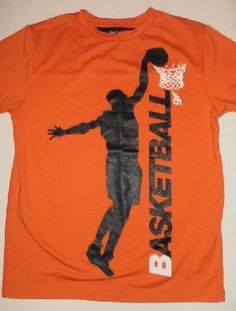 EUC Gap Kids Orange and Black Basketball Boys Shirt Sz 8 FREE SHIPPING