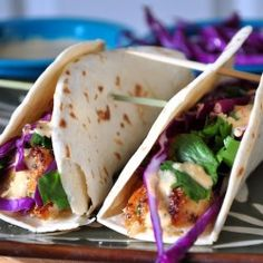 Grilled Chilean Sea Bass Fish Tacos with Homemade Baja Sauce Fish Dishes, Seafood Dishes, Seafood Recipes, Main Dishes, Fish Recipes, Chilean Sea Bass, Steak And Seafood, Fish Tacos, International Recipes