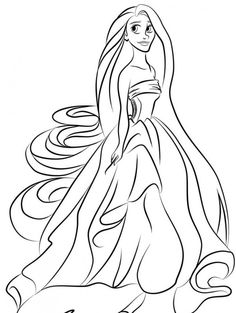 Young Rapunzel Coloring Pages baby unicorn coloring ...