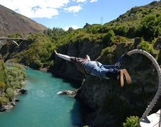 Bungee jumping...Queenstown, New Zealand