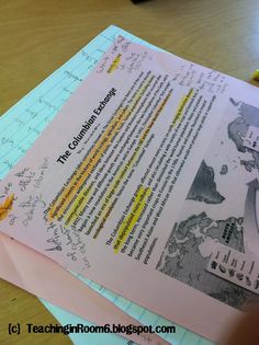 Students are highlighting text for specific information, not everything.  From Teaching in Room 6.