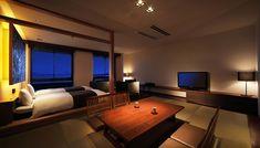 お部屋:和モダンクラシック(和室+ステージベット)|南房総館山 鏡ヶ浦温泉 rokuza(ロクザ) 公式サイト