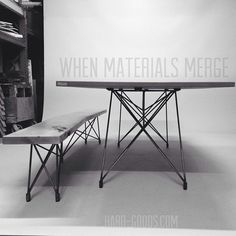 Concrete furniture - original design by Brandon Gore www.hard-goods.com