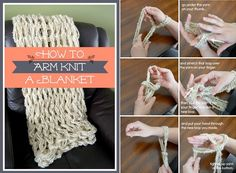 How To Arm Knit a Blanket – Easy Tutorial