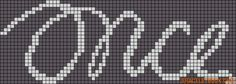 Alpha friendship bracelet pattern added by datchery. once musical logo movie. Friendship Bracelet Patterns, Friendship Bracelets, Alpha Patterns, Filet Crochet, Beading Patterns, Beadwork, Pixel Art, Free Pattern, Templates