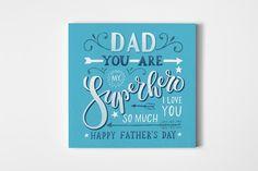 Dad You Are My Superhero Card  @creativework247