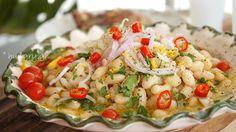 Kitchen Stori.es: Φασόλια Πιάζ Bean Salad, Chutney, Pasta Salad, Risotto, Potato Salad, Salads, Beans, Cooking Recipes, Healthy