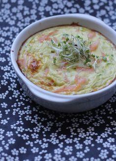 Flans aux courgettes & saumon fumé, sans lait - Miamm...maman cuisine ©