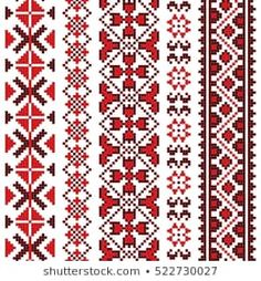Find Traditional Romanian Folk Art Knitted Embroidery stock images in HD and millions of other royalty-free stock photos, illustrations and vectors in the Shutterstock collection. Russian Embroidery, Folk Embroidery, Cross Stitch Embroidery, Embroidery Patterns, Cross Stitch Charts, Cross Stitch Patterns, Russian Cross Stitch, Bordado Popular, Tribal Print Pattern