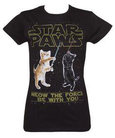 Ladies Star Paws Parody T-Shirt