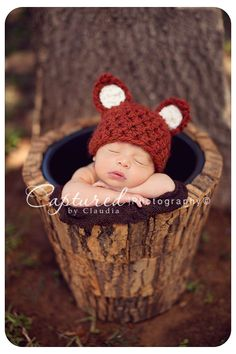 Little Fox Hat Newborn Baby