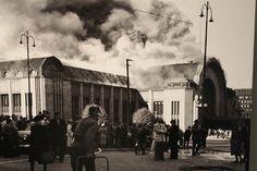 Helsingin rautatieasema palaa v, 1950