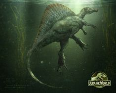 Spinosaurus from Jurassic Park 3 Jurassic World Park, Jurassic World Fallen Kingdom, Michael Crichton, Spinosaurus Aegyptiacus, Jurrassic Park, Park Art, Jurassic Movies, Dinosaur Park, Dinosaur Fossils