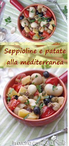 Seppioline e patate alla mediterranea - In cucina con Zia Ralù Zia, Cantaloupe, Cereal, Fruit, Breakfast, Recipes, Friends, Lavender, Morning Coffee