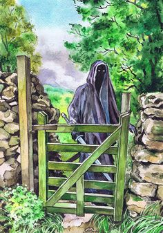Nazgul in the Shire  (watercolor on paper, 2016)