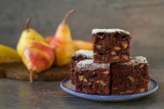 Körtés-kakaós süti - Recept | Femina Pear Recipes, Cake Recipes, Vanilla Sugar, Kakao, Caramel Apples, Chocolate Cake, Mousse, Healthy Life, Lemon