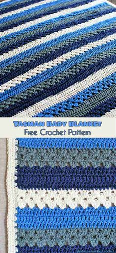 Tasmanian Baby Blanket Free Pattern #freecrochetpatterns #crochetblanket #babyboy