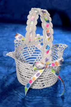 Free Crochet pattern - Flower Girl Basket Crotch-it and ...