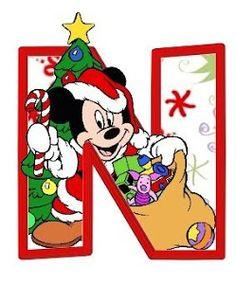 Alfabeto Navide�o de personajes Disney.