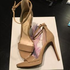 New Jessica Simpson Vaile Heels Brand new Jessica Simpson heels. Patent tan leather. Size 7M. Really cute! I wish they fit me. Retail for $89 Jessica Simpson Shoes Heels