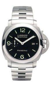 Panerai Men's PAM00299 Luminora Marina Automatic Black Dial Watch