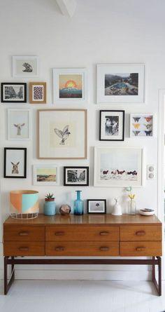 Inspiration Wand, Interior Inspiration, Interior Ideas, Design Inspiration, Mid Century Modern Bedroom, Retro Home Decor, Home And Deco, Bedroom Decor, Cozy Bedroom