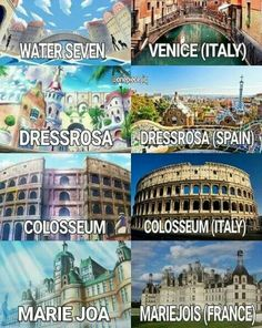 One Piece locations