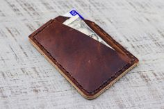 Leather Wallet Every Day Carry Minimalist by choicecuts on Etsy