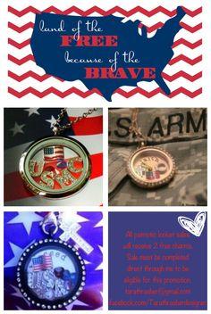 Origami Owl Military Patriotic Marines Navy Army Coast Guard Air Force dawncarden.origamiowl.com