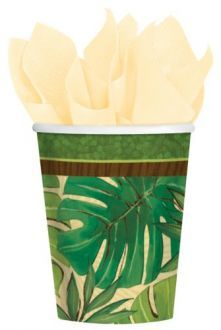 Pack of 8 Island Palms Paper Cups - Luau Tropical Party Decoration Ideas Tropical Party Decorations, Green Party, Beach Bars, Party Tableware, Impreza, Luau, Party Themes, Themed Parties, Kiwi