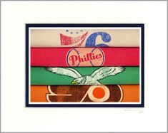 "It's a picture of t-shirts. ""Philadelphia 76ers Phillies #Eagles Flyers Vintage Retro T-Shirt Art Photograph | eBay"""