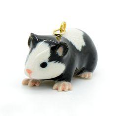 1 Porcelain Guinea Pig Pendant Hand by ingredientsforlovely