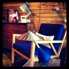 @gusmodern Truss Chair, Timber Table, Annex Cabinet and Pablo Lighting at Bobby Berk Home Miami. Http://www.bobbyberkhome.com
