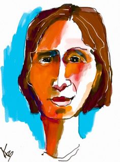 A Portrait by Kate Barber on iPad with Auryn Ink