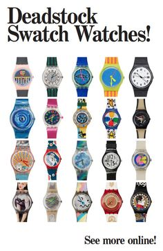 Swatch Watches for Spring! This brings me back to the good old days!!!  Repin if you wore two of these at a time.....