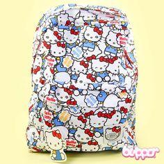 Hello Kitty Backpack - Blue kitties