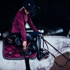 How good looks this 'Plum' outfit? #equestrian #equestrians #outfitoftheday #horse #horses #showjumping