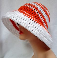 Large Brimmed Sun Hat. Crochet Beach Hat Summer ♥ by Africancrab, $15.00