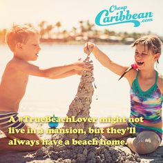 A #TrueBeachLover knows a sand castle is their home away from home. #CheapCaribbean