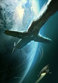 Ready to Cast Off – Sci-Fi Concept Art by François Baranger
