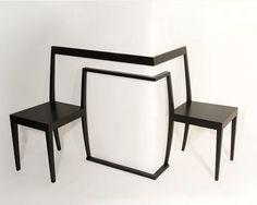 Cadeira para timidos...genial!