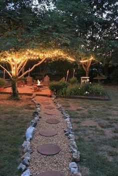 Garden #goals! Add cute fairy lights into your outdoor space this summer for a gorgeous effect.