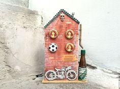 Купить Байкер street. Интерьерное украшение. - подарок байкеру, мотоцикл, интерьерное украшение, подарок мужчине