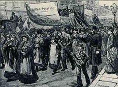 Match girls' strike, London 1888