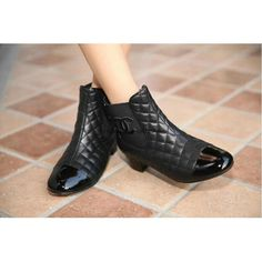 Chanel 2015 new style leather Boots CB012