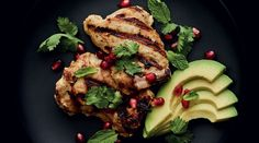 Spicy Yogurt and Lemongrass-Marinated Chicken with Pomegranate