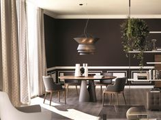 Round dining table GIANO by Cattelan Italia design Maurizio Manzoni, Roberto Tapinassi