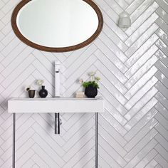 Diagonal Line: this chevron tile is an example of zig zag and diagonal lines. These lines suggest excitement so it could wake one up in the morning