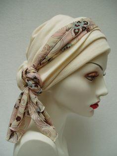 Ivory Headwrap Headcover. $47.00, via Etsy.
