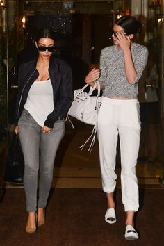 07.10.14: Kendall and Kim start their day early as they leave their hotel together